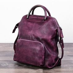 Genuine Leather Hand Bag Women Backpack Casual Backpack We use genuine cow leather, quality hardware and fabric to make the bag as good as it is. •Comfortable Shoulder Strap. • Inside zipper pocket, c