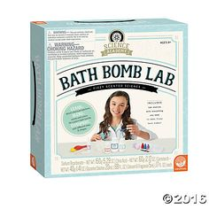 Discover the relaxing side of science with the Science Academy: Bath Bomb Lab kit. By just using a little understanding of chemistry, kids will be able to make cool bath bombs for an aromatic and fizzy bath. This kit offers multiple recipe options to experiment with, giving you options for different sizes, colors and scents, and even the ability to create a super bath bomb for ultimate fizzy fun. #MindWareToys #MindWareExclusive