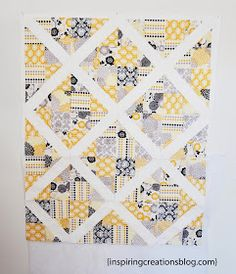Inspiring Creations: 4-Patch Slice Free Quilt Pattern and Tutorial.