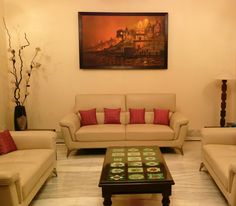 This painting by Artist Ashif Hossain is of the night view of Banaras Ghat. We have recently installed this at a client's place. As you can see, the colors of the ghat, compliment the light subtle décor of the living room. #BanarasGhat #Painting #AshifHossain #WallDecor #TipOfTheDay #HomeDecor #IndianArt #ArtGallery #Mumbai #PaintedRhythm