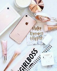 phone wall paper rose gold New iPhone rose gold. Suphora Makeup link in discripsion down below Tumblr Fotos Instagram, Photo Pour Instagram, Flat Lay Inspiration, Desk Inspiration, Brand Inspiration, Pink Images, Flat Lay Photography, Photography Tips, Pink Aesthetic