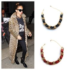 Do you love Nicole Richie's look as much as we do? get a similar look with our leather and chain chokers!!!