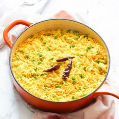 South African Yellow Rice- Quick, easy fragrant rice spiced with turmeric, ginger, and a taste bud sensation. South African Dishes, South African Recipes, Indian Dishes, Rice Side Dishes, Best Side Dishes, College Food Budget, Vegetarian Cooking, Cooking Recipes, Yellow Rice Recipes