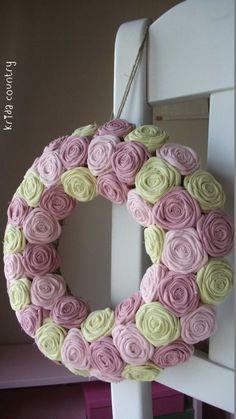 """Rózsakoszorú - """"Tavaszi virágok"""", Baba-mama-gyerek, Otthon, lakberendezés, Dekoráció, Esküvő, Meska Baba, Mirror, Spring, Diy, Decoration, Advent, Beautiful, Country, Home Decor"""