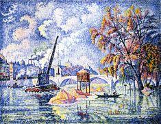 Flood at the Pont Royal, Paris~ Paul Signac   Lone Quixote