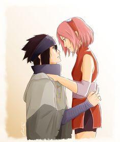 Imagen de sakura, sasuke, and sasusaku