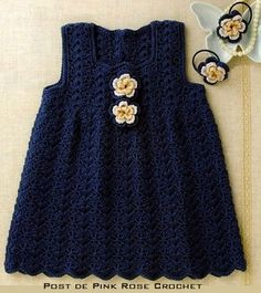 Crocheted jumper.Another pinner says thay they have made several of these and that it is a great pattern.