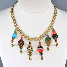 Miriam Haskell Necklace Art Deco Necklace Glass Bead by boylerpf