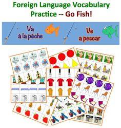 Foreign Language Vocabulary Practice-Go Fish!
