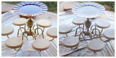 Chandelier to cake stand