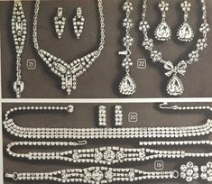 1950s rhinestone evening jewelry