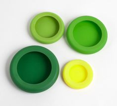 Food Huggers  these are awesome! how to save the other half of your fresh fruits and veggies