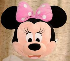 Disney Store Minnie Mouse 3d plush cushion soft toy