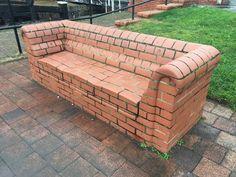 Diy Furniture Outdoor Pallets - New ideas Garden Chairs, Garden Furniture, Diy Furniture, Outdoor Furniture, Garden Sofa, Outdoor Seating, Outdoor Decor, Brick Art, Brick Architecture