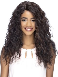 Lina Wig by Vivica Fox: Lina can fit multiple face shapes & is a favorite weekend style. Vivica Fox, Styling Brush, Wig Stand, Synthetic Lace Front Wigs, Weekend Style, Loose Curls, Long Curly, Face Shapes, Hair Pieces