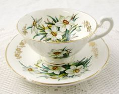 Vintage Susie Cooper Tea Cup and Saucer with White by TheAcreage