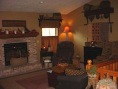 Primitive Country Living Room Ideas Primitive Americana Living Room