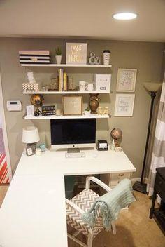 My new Ikea Desk! in 2019 Basement Remodel Home office