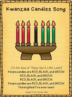 Winter Holidays: Christmas, Hanukkah and Kwanzaa Kinara candles Song for Kwanzaa!