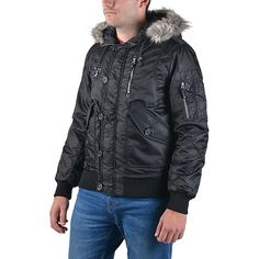 Emerson μπουφάν με γούνα στην κουκούλα που βγαίνει, εσωτερικά καπιτονέ επένδυση. Θα σας προσφέρει εξαιρετική αδιάβροχη προστασία ενώ διαθέτει μια εσωτερική τσέπη και καπάκι έξω από το φερμουάρ για να μη περνάει ο αέρας.