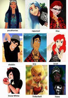 Punk Disney characters.