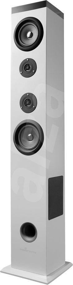 Reproduktor s rádiem Energy Sistem Tower T5 2.1 Bluetooth bílý | Alza.cz