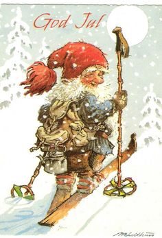 "Kjell E. Midthun. ""Nisse/Santa on Skis"""