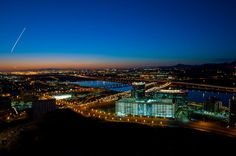 """A beautiful Arizona sunset from atop """"A"""" Mountain in downtown Tempe."""