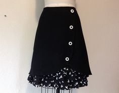 Flight wool ruffle front skirt Sz 10 by LoveToLoveYou on Etsy