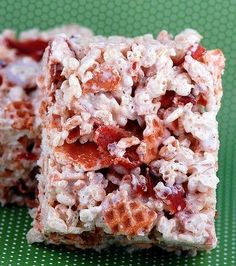 bacon and waffle cone maple rice krispie treat