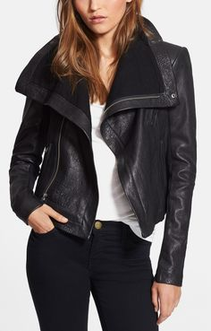 Fall style: The classic black leather jacket