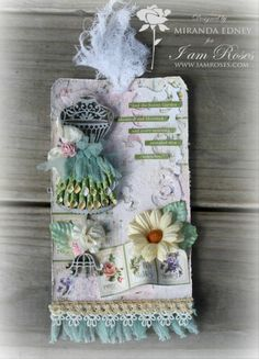 This gorgeous Secret Garden Graphic 45 Tag is from Miranda Edney! Originally shared on our Ning site. Beautiful!