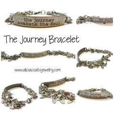 """Strips of Jennifer Heynen's """"Jolly Holiday"""" fabric were twisted together to form this twisted rope bracelet. Finished with stainless steel end caps, jumprings & clasp and a silver-tone heart charm. Tim Holtz, Heart Charm, Journey, Pendants, Coats, Band, Bracelets, Silver, Leather"""