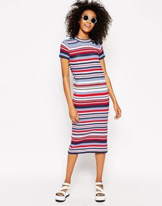 ASOS Striped Knitted Dress