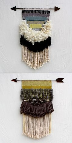Dream Weaver- I am digging the weaving art that is like a cool little tapestry! Weaving Projects, Weaving Art, Tapestry Weaving, Loom Weaving, Hand Weaving, Woven Wall Hanging, Tapestry Wall Hanging, Wall Hangings, Arts And Crafts