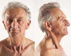 Old man close up head