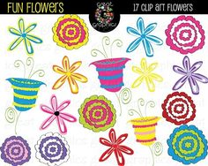 Printable Flower Digital Clip Art $7