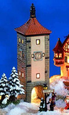 Keramik Lichthaus Siebers Turm - Was ist eine mittelalterliche Stadt ohne Mauerring und Türme, die vor unliebsamen Besuchern schützen? So entstand auch 1385 der stattliche Siebers Turm in #Rothenburg ob der Tauber.