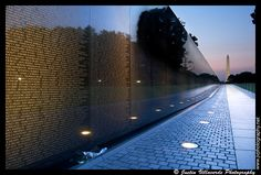 Vietnam Veterans Memorial ~ Honoring our longest war. Washington, DC. Photo Justin Villaverde.