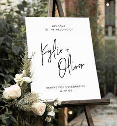Our Wedding, Dream Wedding, Brunch Wedding, Tent Wedding, Perfect Wedding, Wedding Ceremony, Wedding Welcome Signs, Sign Templates, Wedding Signage