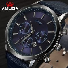 21b9c3a75f1 Item Type  Quartz Wristwatches Case Material  Stainless Steel Brand Name   AMUDA Dial Window