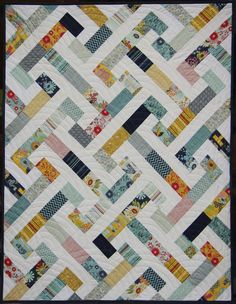 Here's another baby quilt. Ahhh...babies! Best reason in the world for making quilts! I made this one for my cute friend Bridgett who j...