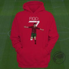 Portgual Hoodie - Luis Figo Soccer Sweatshirt  Custom Apparel Football, futbol, soccer, madrid, la liga, Figo Clothing by Graphics17 on Etsy