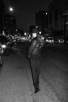 Lea Michele on the Bowery.