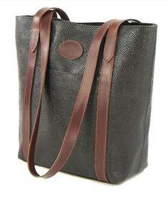 Vintage Mulberry Branston Scotchgrain Leather Arabella Per Bag