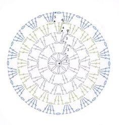 Sweet&Knit: Tutorial Alfombra de Ganchillo XXL Crochet Diy, Crochet Home, Love Crochet, Crochet Motif, Crochet Doilies, Crochet Flowers, Crochet Stitches Chart, Crochet Stitches Patterns, Crochet Diagram