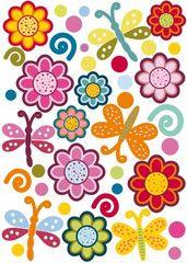 Blommor och fjärilar  http://www.barndekor.se/products/vaggstickers-blommor-och-fjarilar