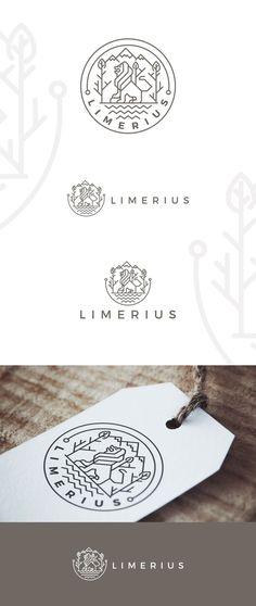 Minimal line art logo design by Daniel Be.