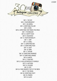 30 Day Instagram Challange