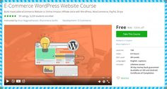"[100% Free Udemy Course] E-Commerce WordPress Website Course   Build impeccable eCommerce Website or Online Amazon Affiliate store with WordPress WooCommerce PayPal Stripe  This Udemy Course Worth 30$ So hurry up! And get it FOR FREE.  1- Details:  Instructors : Arun Nagarathanam Sharomena Aarthi.  Lectures : 134.  Video :9.5 Hours.  Skill level :All level.  Languages :English.  Ratings :59 Ratings.  Students enrolled :3239.  Original Price : 30$.  2- Course Description:  ""(New 2016): Build…"